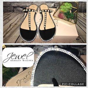 Jewel by Badgley Mischka Pearl & Rhinestone Sandal